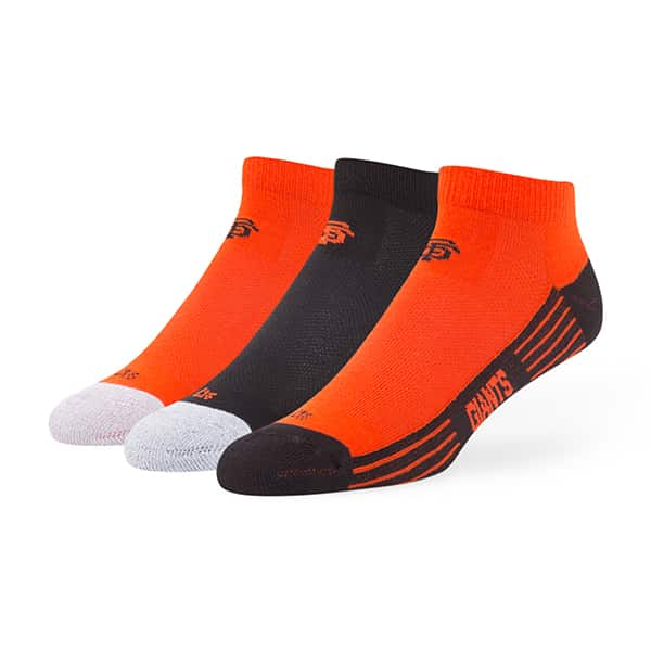 San Francisco Giants Skylite Motion Low Cut Socks 3 Pack Team Color 47 Brand