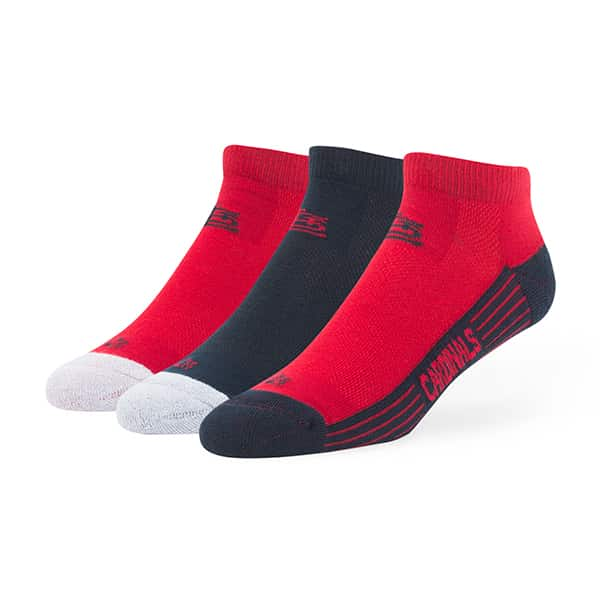 St. Louis Cardinals Skylite Motion Low Cut Socks 3 Pack Team Color 47 Brand