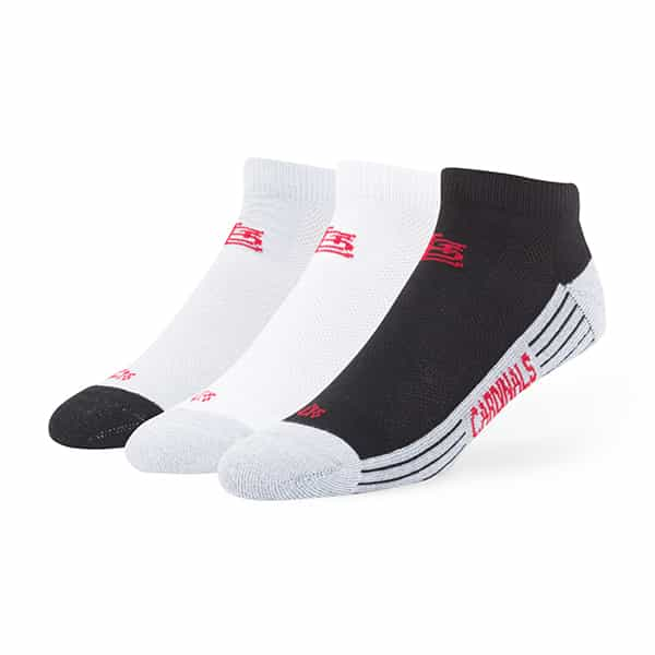 St. Louis Cardinals Skylite Motion Low Cut Socks 3 Pack Tonal 47 Brand