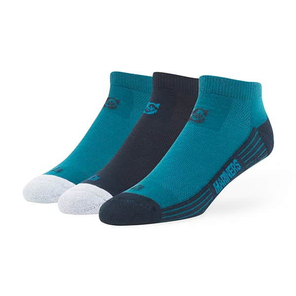 Seattle Mariners Skylite Motion Low Cut Socks 3 Pack Team Color 47 Brand