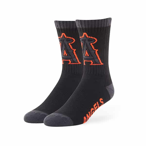 Los Angeles Angels Warrant Sport Socks Black 47 Brand