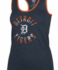 Detroit Tigers Women's 47 Brand Navy Club Tank Top