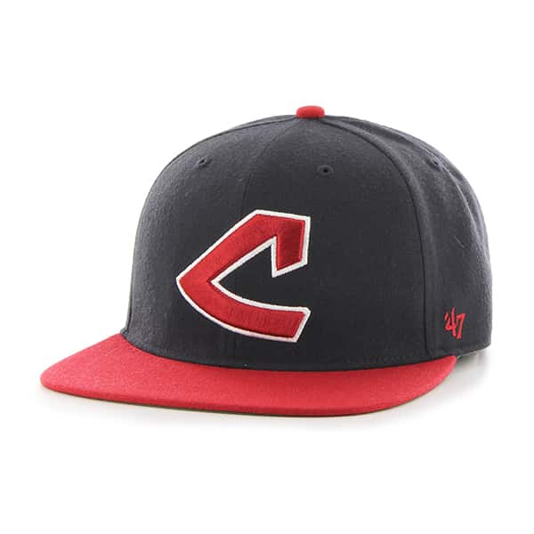 Cleveland Indians Hole Shot Two Tone Navy 47 Brand Hat