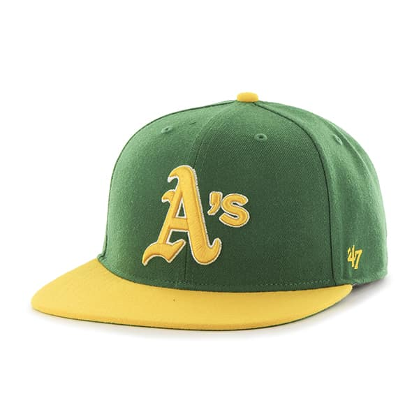 Oakland Athletics Hole Shot Two Tone Kelly 47 Brand Hat