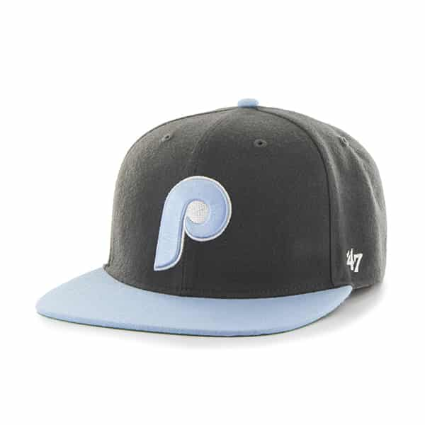 Philadelphia Phillies Hole Shot Two Tone Charcoal 47 Brand Hat