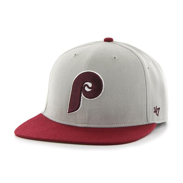 Philadelphia Phillies Hole Shot Two Tone Gray 47 Brand Hat