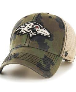 Baltimore Ravens Burnett Clean Up Green Camo 47 Brand Adjustable Hat