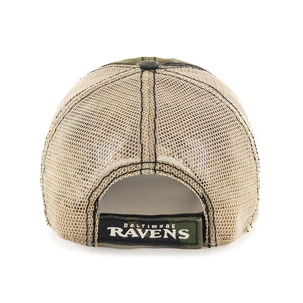 417c3e43 Baltimore Ravens Burnett Clean Up Frontline Green Camo 47 Brand Adjustable  Hat - Detroit Game Gear