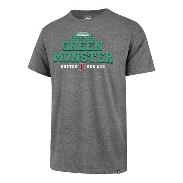 Boston Red Sox Men's 47 Brand Green Monster Gray T-Shirt Tee