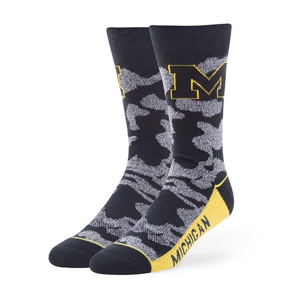 Michigan Wolverines Bayonet Fuse Socks Navy 47 Brand