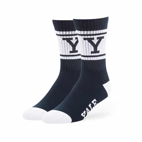 Yale Bulldogs Duster Sport Socks Navy 47 Brand