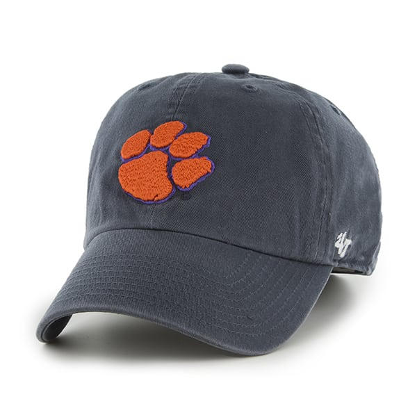 Clemson Fitted Hat: Clemson Tigers Franchise Navy 47 Brand Fitted Hat