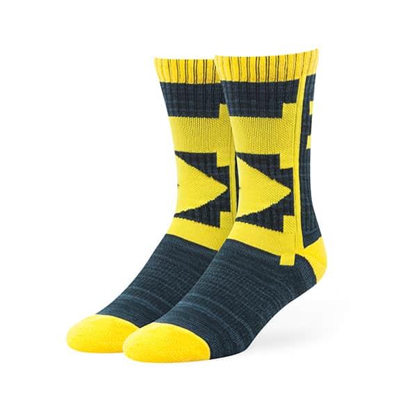 Michigan Wolverines Hot Box Sport Socks Navy 47 Brand