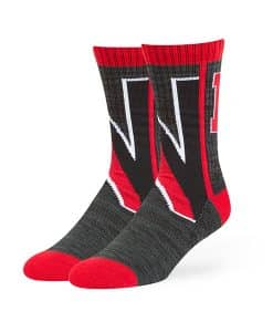 Northeastern Huskies Hot Box Sport Socks Black 47 Brand