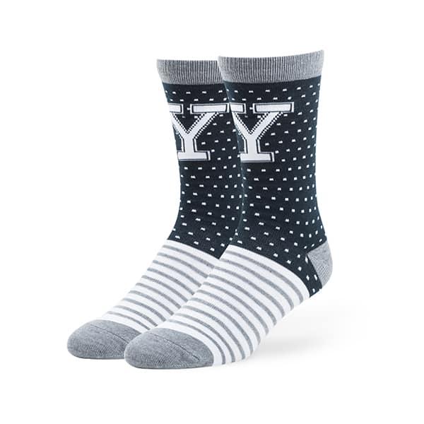 Yale Bulldogs Willard Flat Knit Socks Navy 47 Brand