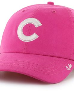 Chicago Cubs 47 Brand Women's Pink Miata Clean Up Adjustable Hat