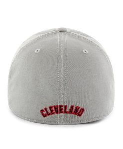 Cleveland Indians 47 Brand Gray Home Franchise Fitted Hat Back