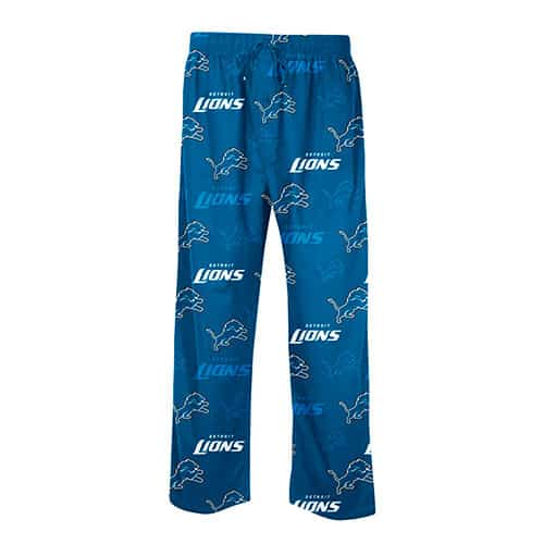 Detroit Lions Mens Blue Pajama Pants