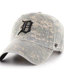Detroit Tigers 47 Brand Digital Camo Clean Up Adjustable Hat