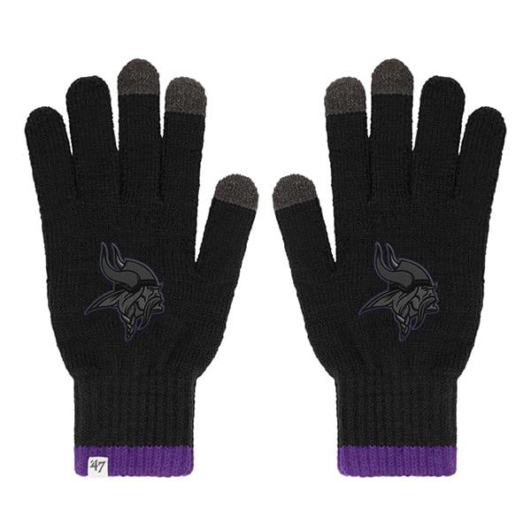 Minnesota Vikings Touch Gloves Black 47 Brand