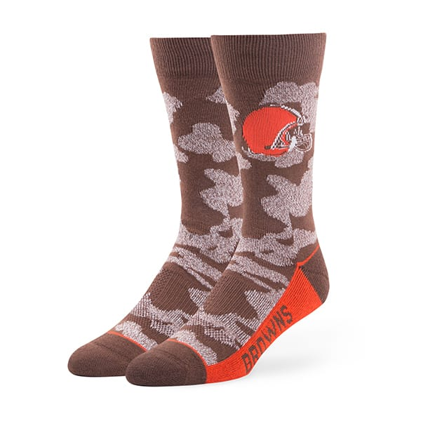 Cleveland Browns Bayonet Fuse Socks Brown 47 Brand