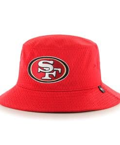 San Francisco 49Ers Backboard Bucket Hat Red 47 Brand