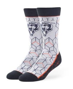 Chicago Bears LARGE Beehive Fuse Socks Gray 47 Brand