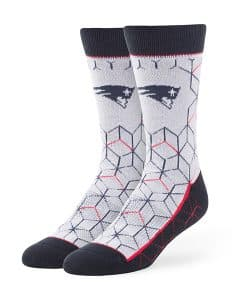 New England Patriots Beehive Fuse Socks Gray 47 Brand