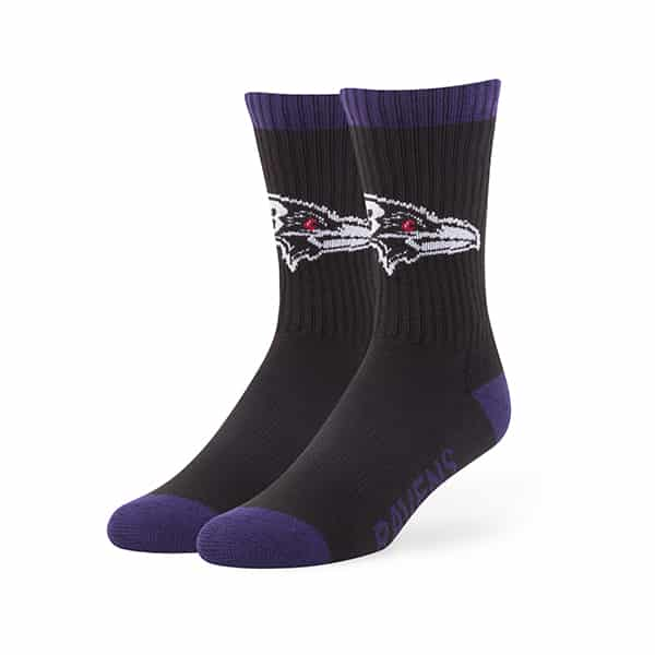 Baltimore Ravens Bolt Sport Socks Black 47 Brand
