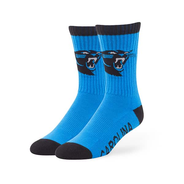 Carolina Panthers Bolt Sport Socks Glacier Blue 47 Brand