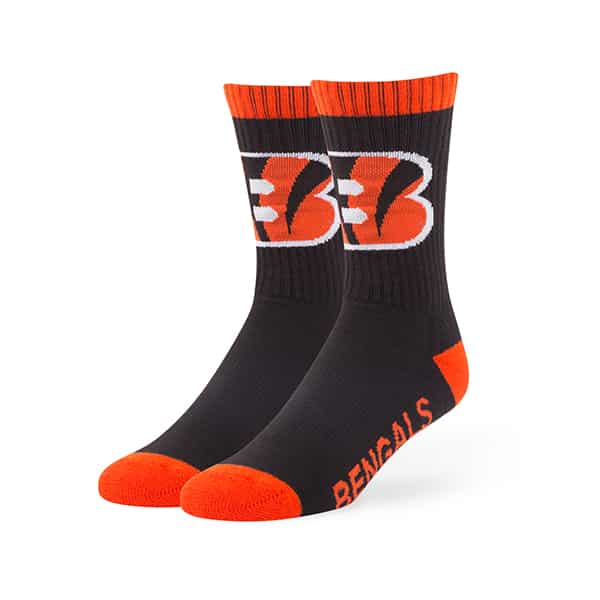 Cincinnati Bengals Bolt Sport Socks Black 47 Brand