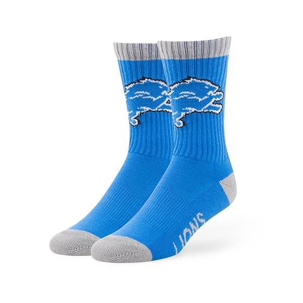 Detroit Lions Bolt Sport Socks Blue Raz 47 Brand