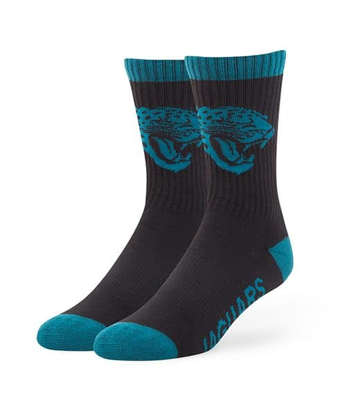 Jacksonville Jaguars Bolt Sport Socks Black 47 Brand