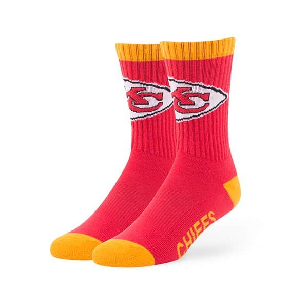 98c067c4a Kansas City Chiefs Bolt Sport Socks Torch Red 47 Brand - Detroit Game Gear