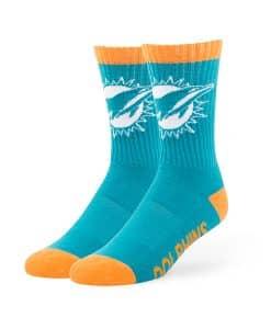 Miami Dolphins Bolt Sport Socks Neptune 47 Brand