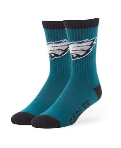 Philadelphia Eagles Bolt Sport Socks Pacific Green 47 Brand