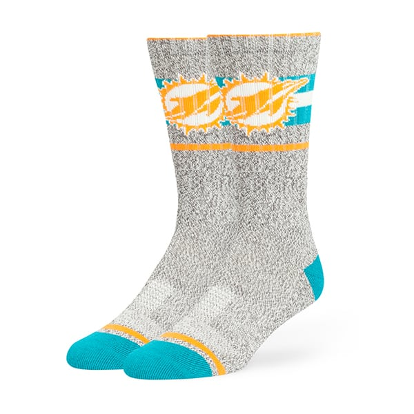 Miami Dolphins Collins Fuse Socks Brown 47 Brand