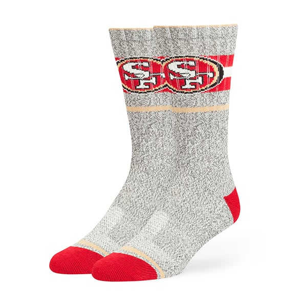 San Francisco 49Ers Collins Fuse Socks Brown 47 Brand