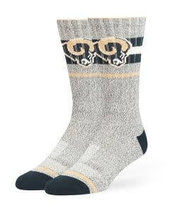 Los Angeles Rams Collins Fuse Socks Brown 47 Brand