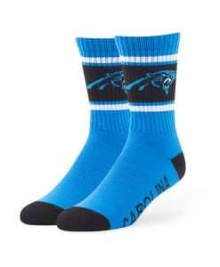 Carolina Panthers Duster Sport Socks Glacier Blue 47 Brand