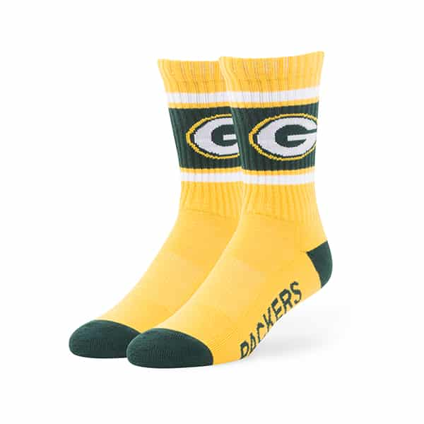 Green Bay Packers Duster Sport Socks Cheddar 47 Brand