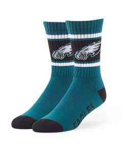 Philadelphia Eagles Duster Sport Socks Pacific Green 47 Brand