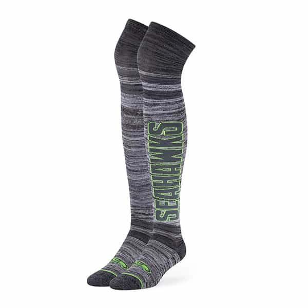 Seattle Seahawks Ellie Otk Socks Graphite 47 Brand