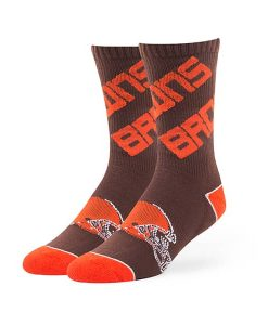 Cleveland Browns Helix Sport Socks Brown 47 Brand