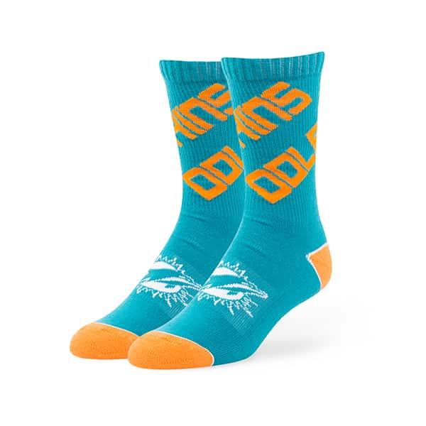 Miami Dolphins Helix Sport Socks Neptune 47 Brand