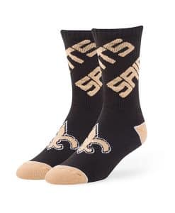 New Orleans Saints Helix Sport Socks Black 47 Brand