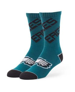 Philadelphia Eagles Helix Sport Socks Pacific Green 47 Brand