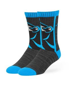 Carolina Panthers Hot Box Sport Socks Black 47 Brand