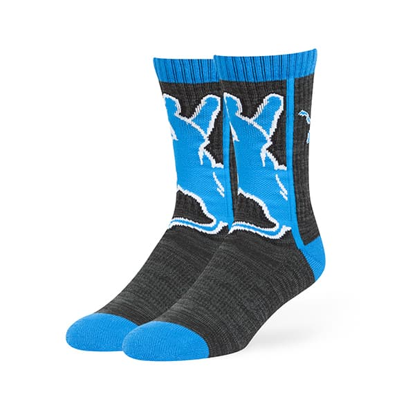 Detroit Lions Hot Box Sport Socks Black 47 Brand