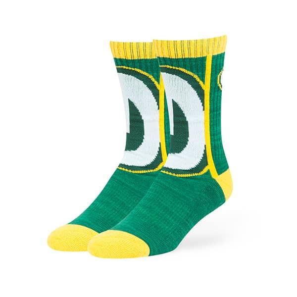 Green Bay Packers Hot Box Sport Socks Dark Green 47 Brand